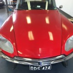 Citroen DS bumpers polished.